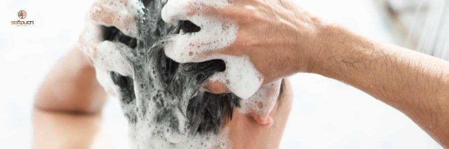 Lavado del cabello después de un trasplante capilar